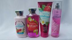 BATH & BODY WORKS BOURBON STRAWBERRY & VANILLA  MIST CREAM G