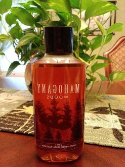 Bath & Body Works MAHOGANY WOODS 2-in 1 Hair + Body Wash FOR