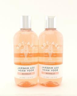 Bath Body Works 2 Sea-Tox Sea Mineral Body Wash Shower Gel 1