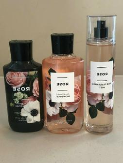 Bath Body Works ROSE Fragrance Mist Body Lotion Body Wash Pi