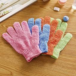 Bath Gloves Bath Gloves Women 4pcs Shower Gloves Exfoliating