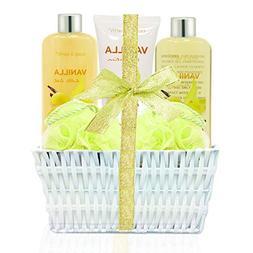 Bath Spa Basket Gift Set, Body&Earth Luxurious 5 Piece Bath