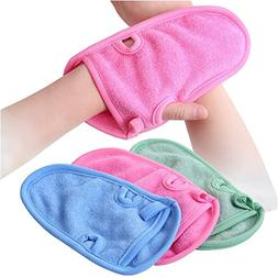 3PCS Unisex Children Adult Bathing Gloves-Shower r Bathroom