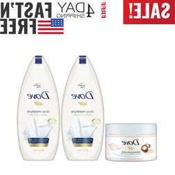 Dove Body Wash and Body Polish, Exfoliate and Deep Moisture