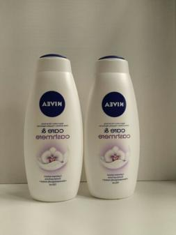Nivea Care&Cashmere body wash two 25 oz bottles