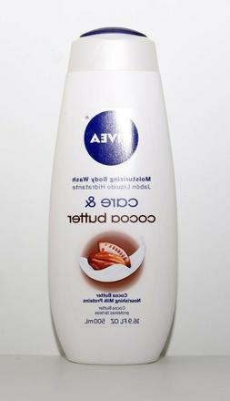 NIVEA Care and Cocoa Butter Moisturizing Body Wash, 16.9 Flu