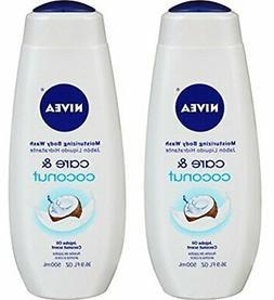 NIVEA Care and Coconut Moisturizing Body Wash 16.9 Fluid Oun