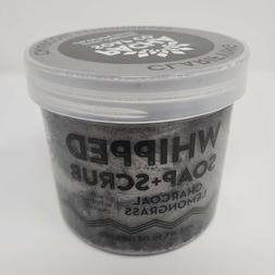 Charcoal Lemongrass Whipped Soap + Body Wash Scrub for Detox