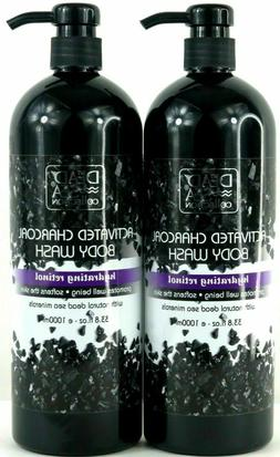 Dead Sea Collection Deep Activated Charcoal Body Wash with D