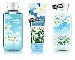 Bath & Body Works Cotton Blossom Body Cream, Shower Gel and