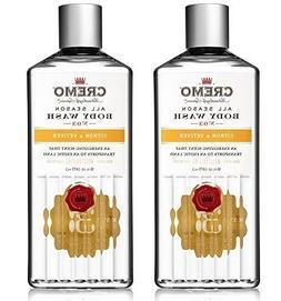 Cremo All Season Body Wash, Citron Vetiver, 16 oz. 2-pack