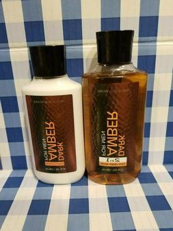 DARK AMBER Lotion & Body Wash BUNDLE x2 Bath & Body Works FR
