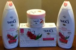 dove body wash 22 oz, dove exfoliating body polish 10.5 oz D