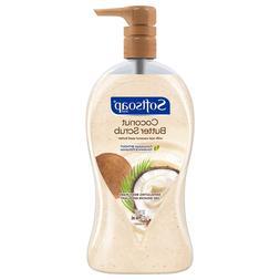 Softsoap Exfoliating Body Wash Pump, Coconut Butter Scrub -