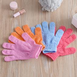 Five Fingers Bath Towel Gloves Bath Shower Candy Colors <fon