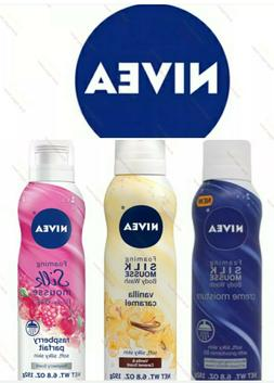 Nivea Foaming Silk Mousse Body Wash,, 6.8 oz choose flavor