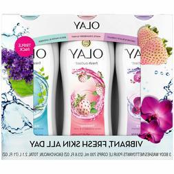 Olay Fresh Outlast Body Wash 23.6 fl. oz., 3 pk.New- Free Sh