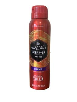 Old Spice Fresher Collection Men's Body Spray, Amber, 3.75 O