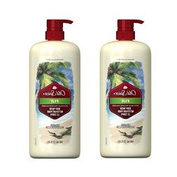 Old Spice Fresher Fiji Scent Body Wash for Men, 32 oz