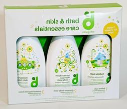 Gift Set Babyganic Bath Skin Care Essentials Shampoo Body Wa