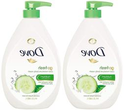 Dove Go Fresh Body Wash Pump, 34 Oz 2 Pack