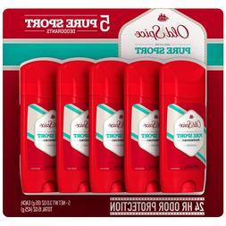 Old Spice High Endurance Deodorant, Pure Sport, 85g 5 Piece