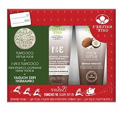 Nature's Gate Holiday Gift Set, Coconut Body Butter & 3-n-1