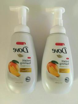 Dove Instant Foaming Glowing Mango Butter Body Wash Soap 13.