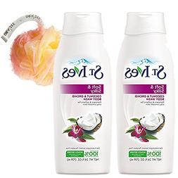 St. Ives Two Soft and Silky Body Wash, Coconut Milk and Orch