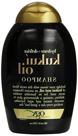 OGX Kukui Oil Shampoo Hydrate Plus Defrizz, 13 Ounce Bottle