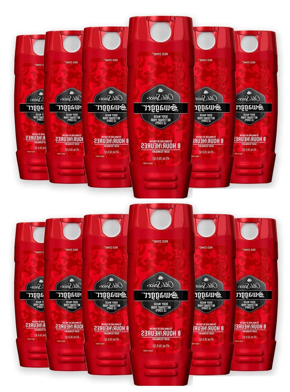 12 16oz bottles red zone body wash