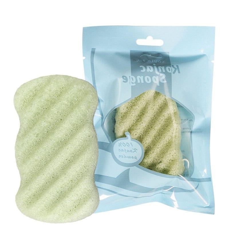 1PC Bath Shower <font><b>Washing</b></font> Organic Soft Konjac Puff <font><b>Scrub</b></font> Cleanser Skin Care Tool Bathroom Supplies