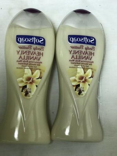 2 SoftSoap Body Butter Heavenly Vanilla Moisturizing Body Wa