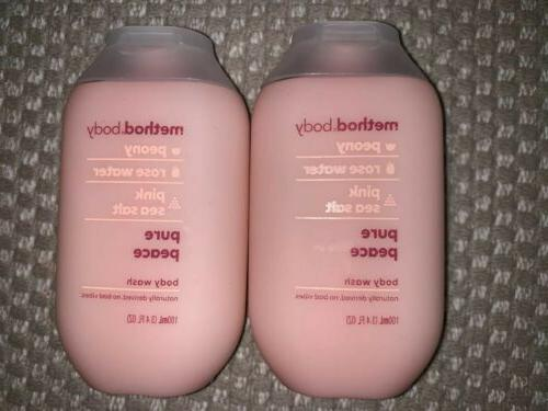 2x body wash pure peace peony rosewater