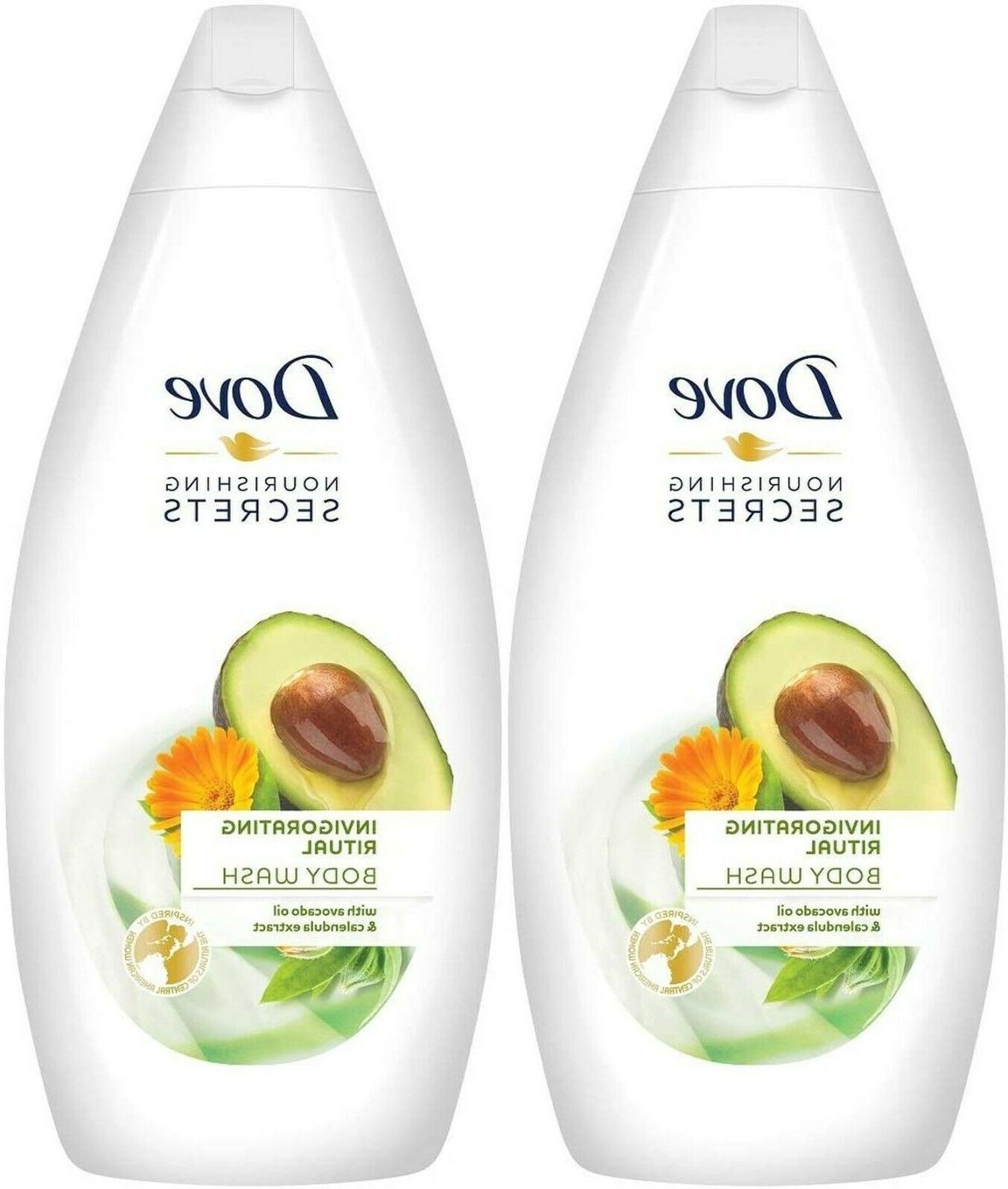 2 Pack Dove Nourishing Secrets Invigorating Ritual Body Wash