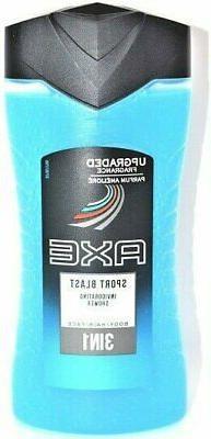 3 x Axe Sport Blast Shower Gel / Body Wash 250ml = 8.45 oz /