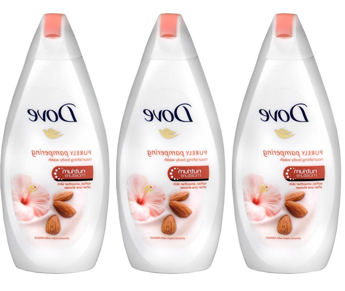 3 x Dove Purely Pampering Almond Cream with Hibiscus Body Wa