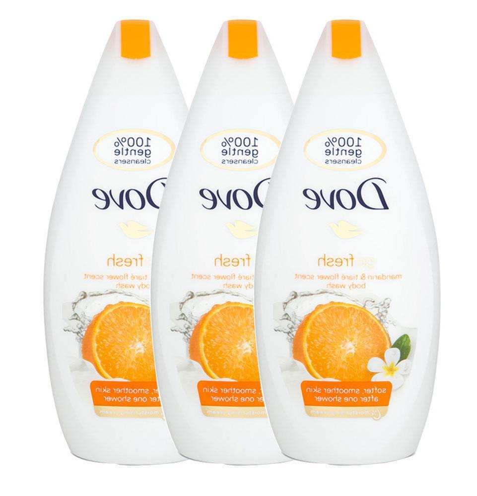 3x Dove Mandarin Cream Gel 16.9oz
