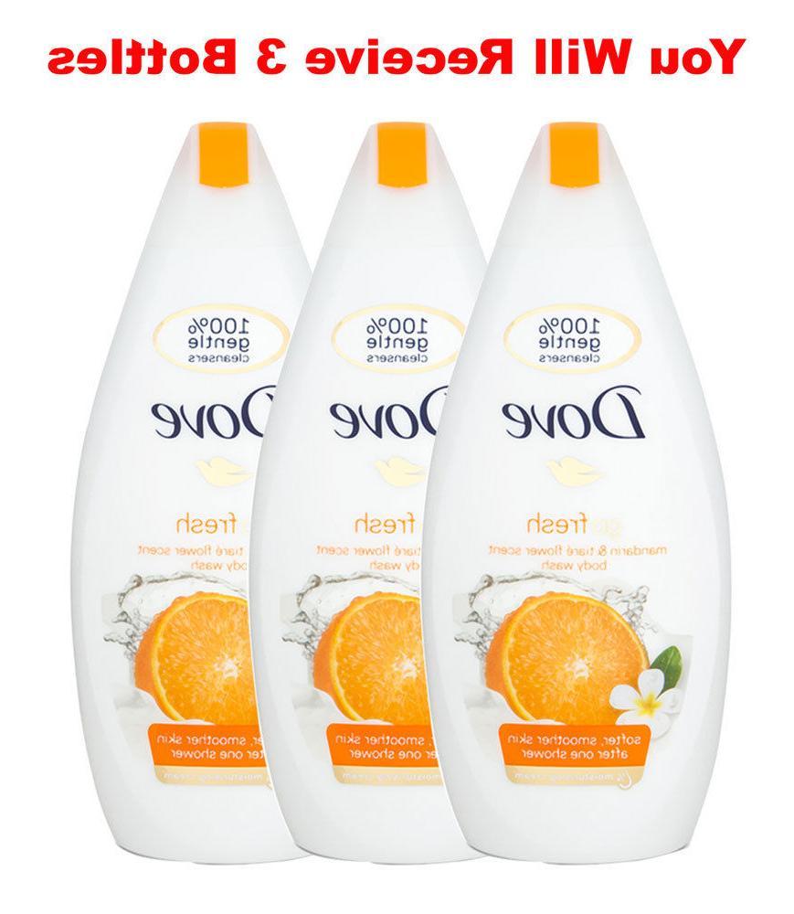 3x body wash mandarin tiare flower moisturizing