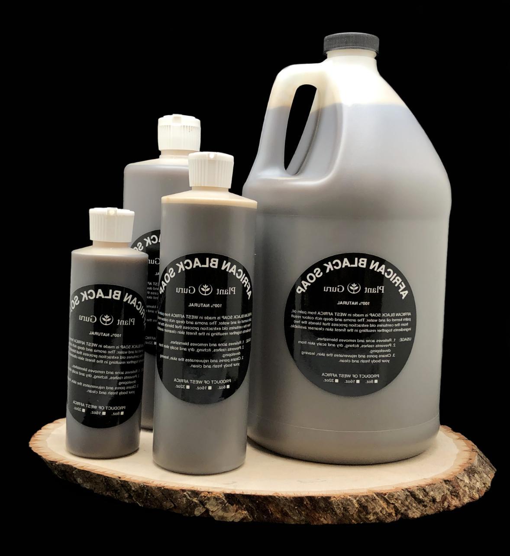 8 oz. Black Pure Organic Body Wash Shampoo