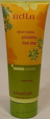ALBA BOTANICA PAPAYA MANGO EXFOLIATING BODY WASH 4 FULL SIZE