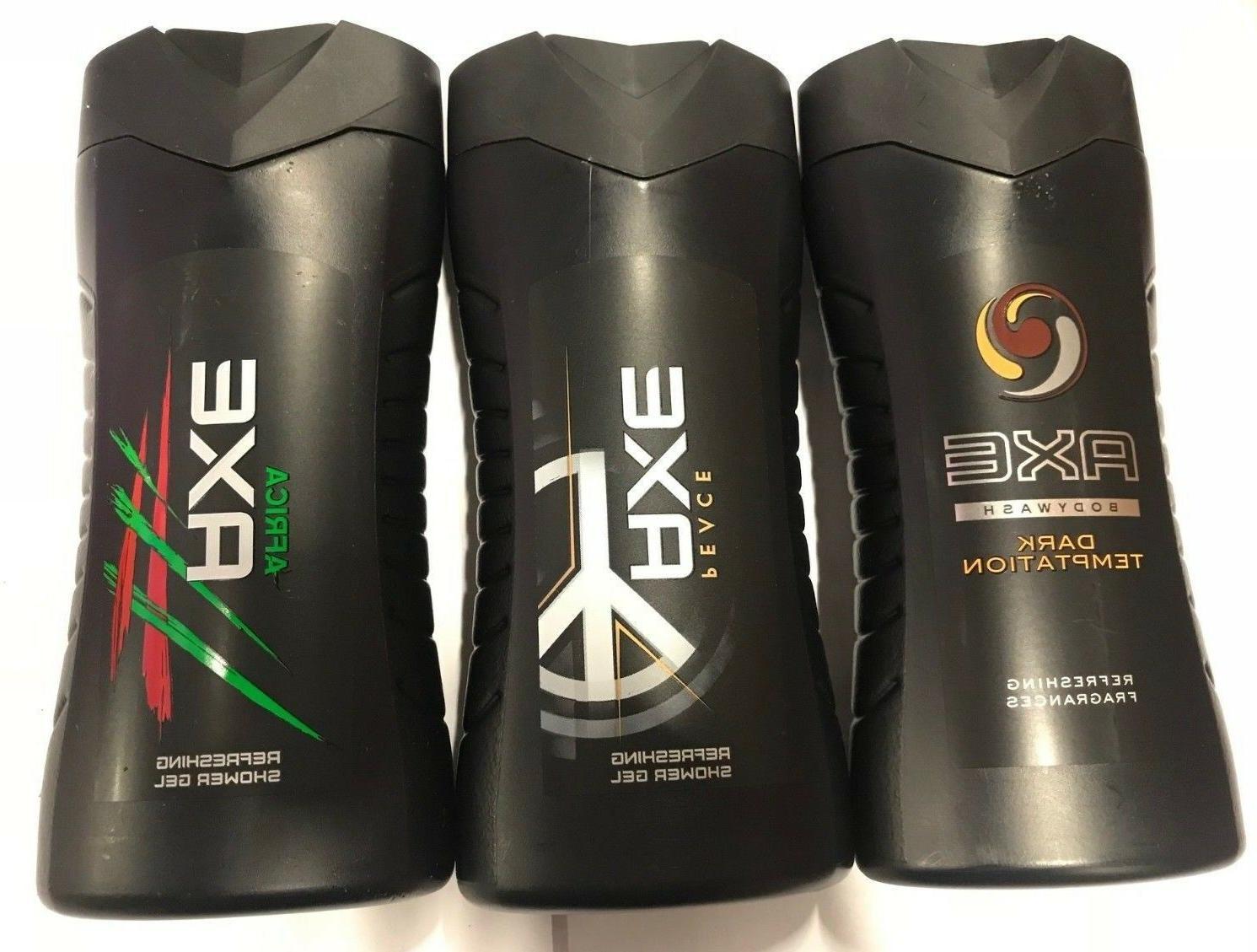 Assorted AXE Shower Gel / Body Wash 250ml = 8.45 oz / Each