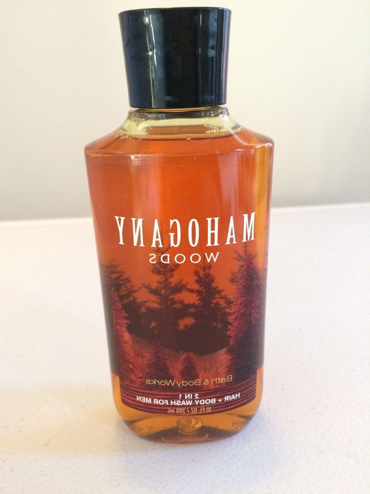 BATH & BODY WORKS MAHOGANY WOODS 2 IN 1 HAIR+BODY WASH FOR M
