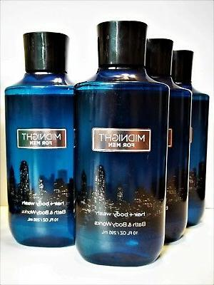 Bath Body Works MIDNIGHT for MEN 2 in 1 Hair + Body Wash, 10