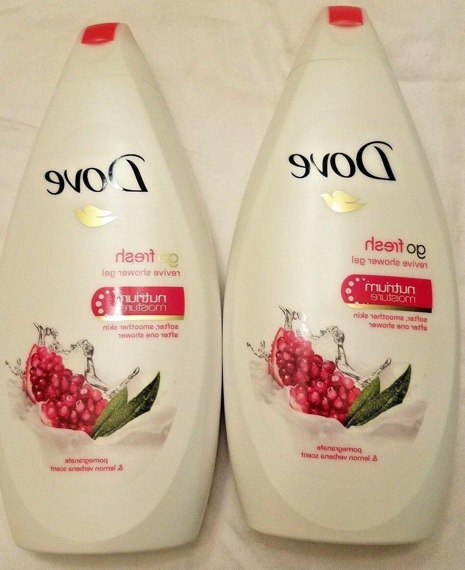 Body Wash 22 oz 2-Pack Dove go fresh Pomegranate and Lemon V