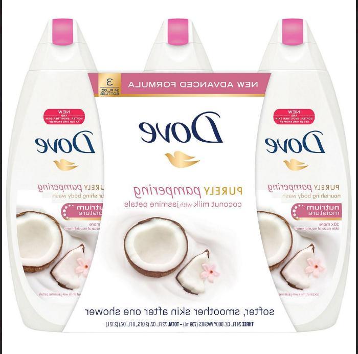 DOVE CUCUMBER & GREEN TEA Cool Moisture Body Wash- 3 pack of