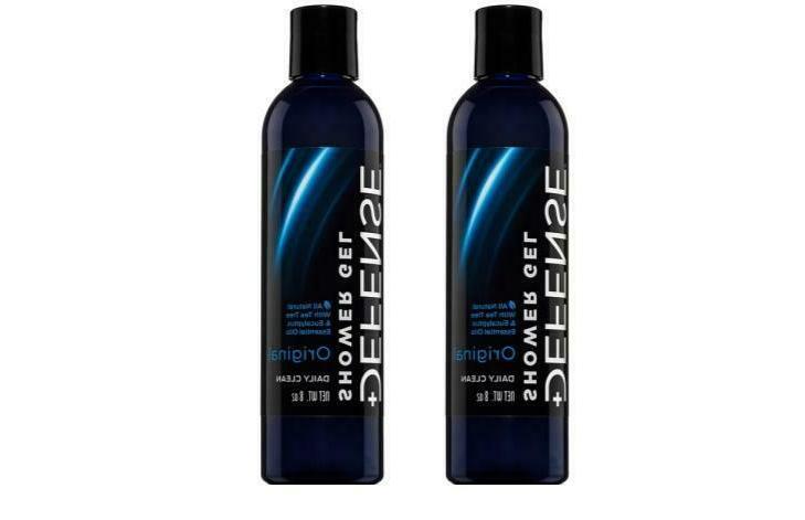 Defense Soap Body Wash Shower Gel 8 Oz  - 100% Natural Tea T