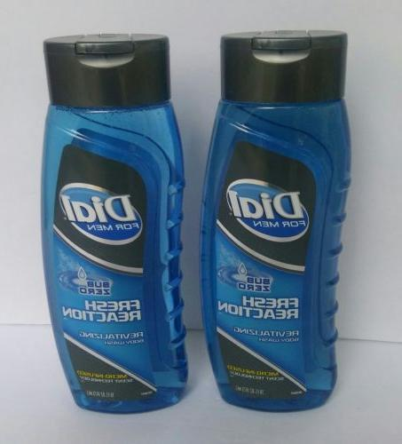 Dial For Men Body Wash Fresh Reaction 16 fl oz X2