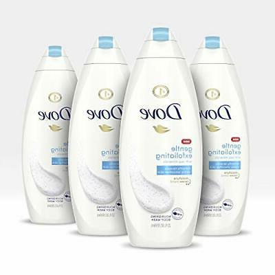 Dove Body Wash, Gentle Exfoliating 22 oz, 4 Count