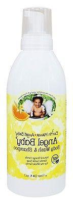 Earth Mama Angel Baby Shampoo & Body Wash, 34 Ounce, Natural